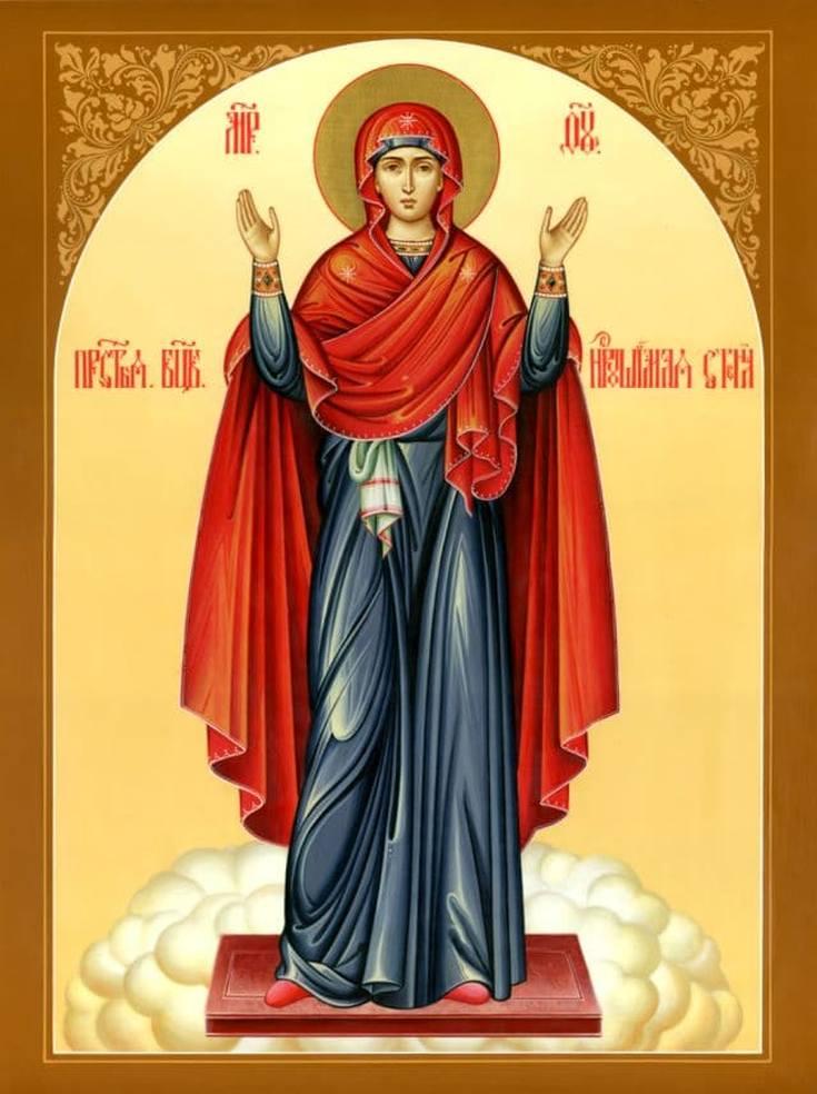 Молитва Богородице Нерушимая стена текст на русском